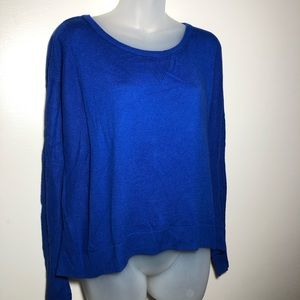 Medium American Eagle Royal Blue High Low Sweater
